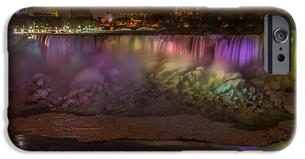 Niagara Falls iPhone Cases - Niagara Falls at Night iPhone Case by Ian Stotesbury
