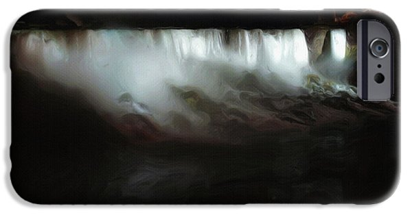 Niagara Falls iPhone Cases - Niagara Falls by Night iPhone Case by Ayse Deniz