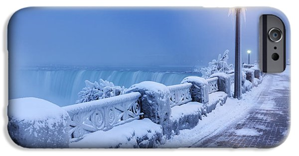Recently Sold -  - Wintertime iPhone Cases - Niagara Falls city wintertime scenery iPhone Case by Oleksiy Maksymenko
