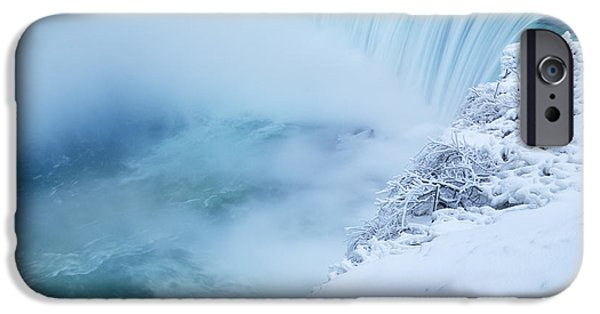 Wintertime iPhone Cases - Niagara Falls in Winter iPhone Case by Oleksiy Maksymenko