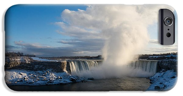 River View iPhone Cases - Niagara Falls Makes Its Own Weather iPhone Case by Georgia Mizuleva