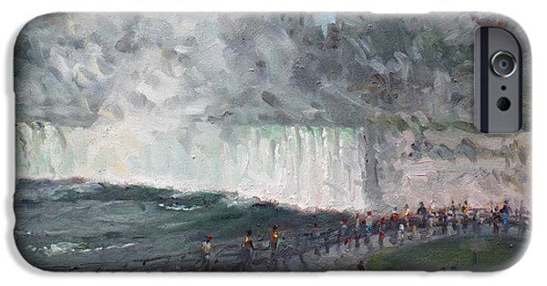 People iPhone Cases - Niagara Falls iPhone Case by Ylli Haruni