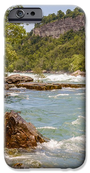 Creek iPhone Cases - Niagara Gorge iPhone Case by Garvin Hunter