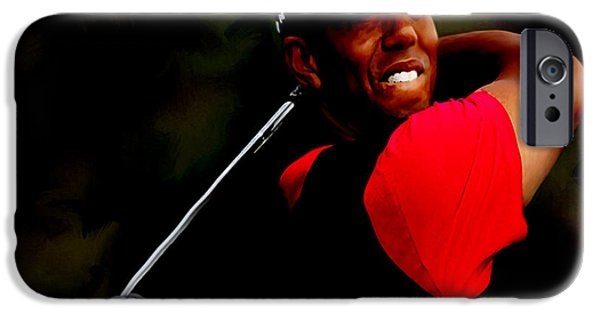 Us Open Mixed Media iPhone Cases - Nice Form  iPhone Case by Brian Reaves