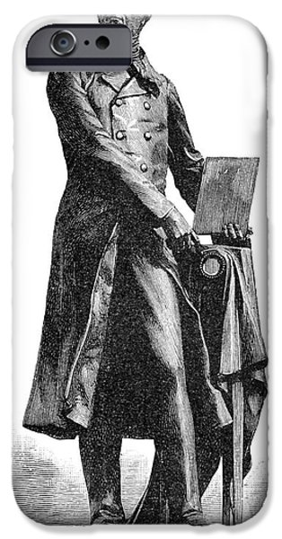 Statue Portrait iPhone Cases - Nicephore Niepce, French Inventor iPhone Case by Spl