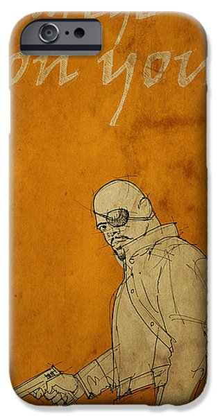 Fury iPhone Cases - Nick Fury - The Avengers iPhone Case by Pablo Franchi