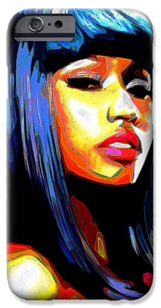 Celebrities Digital iPhone Cases - Nicki Minaj iPhone Case by  Fli Art