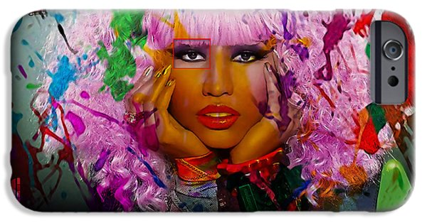 Nicki Minaj iPhone Cases - Nicki Minaj Painting iPhone Case by Marvin Blaine