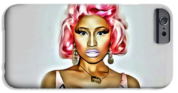 Nicki Minaj iPhone Cases - Nicki Minaj Pink iPhone Case by Florian Rodarte