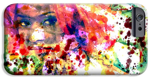 Nicki Minaj iPhone Cases - Nicki Minaj Wet Paint Splatter iPhone Case by Brian Reaves