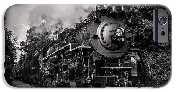 Steam Locomotive iPhone Cases - Nickel Plate Berkshire 765 iPhone Case by Dale Kincaid