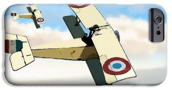 World War One iPhone Cases - Nieuport 11 Bebe iPhone Case by John Wills