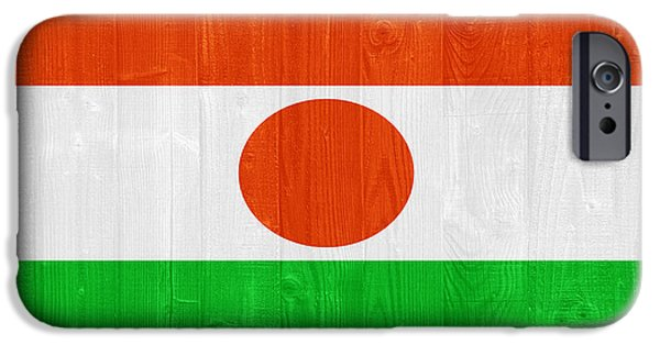 Board iPhone Cases - Niger flag iPhone Case by Luis Alvarenga