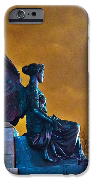 Night Angel iPhone Cases - Night Angel iPhone Case by Alex Art