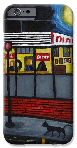 Night at an Arlington Diner iPhone Case by Victoria Lakes