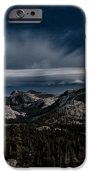 Night at Olmstead Point iPhone Case by Cat Connor