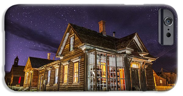 Haunted Houses iPhone Cases - Night at the Cain House iPhone Case by Cat Connor