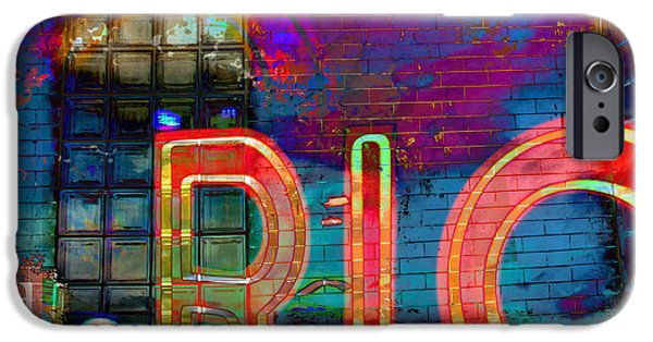 Fort Collins Digital Art iPhone Cases - Night at the Rio iPhone Case by Tammy Beard