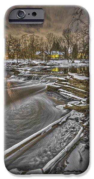 The White House Photographs iPhone Cases - Night at Warrenville Grove iPhone Case by Tom Phelan