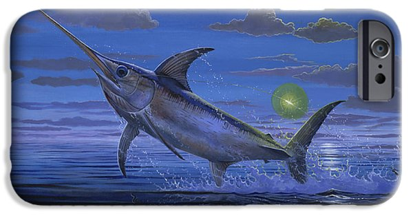 Swordfish iPhone Cases - Night Bite Off0066 iPhone Case by Carey Chen