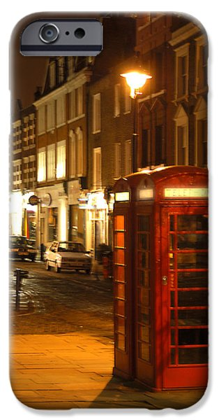 Evening Scenes iPhone Cases - Night Call iPhone Case by Mike McGlothlen