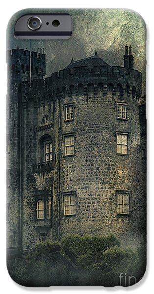 Ruin Mixed Media iPhone Cases - Night Castle iPhone Case by Svetlana Sewell