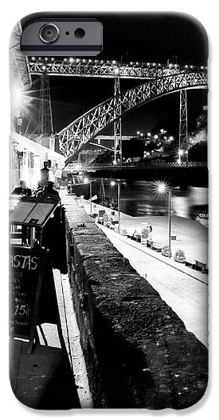 Night Dining in Porto iPhone Case by John Rizzuto