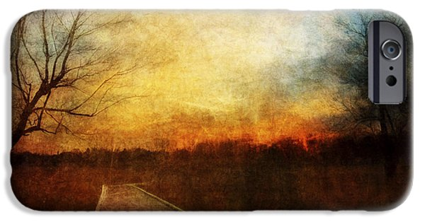Bare Tree iPhone Cases - Night Falls iPhone Case by Scott Norris