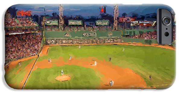Recently Sold -  - Fenway Park iPhone Cases - Night Fenway Pop iPhone Case by John Farr
