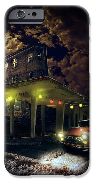 Haunted House Digital Art iPhone Cases - Night fill iPhone Case by Nathan Wright
