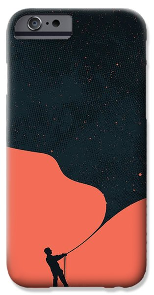 Stars iPhone Cases - Night fills up the sky iPhone Case by Budi Kwan