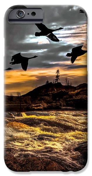 Night Flight iPhone Case by Bob Orsillo