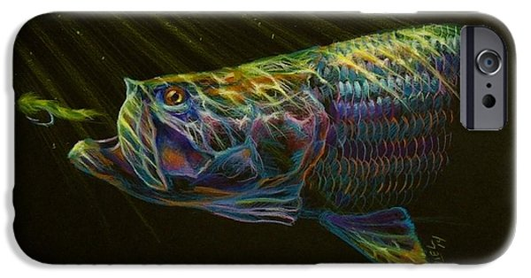 Colored Pencils iPhone Cases - Night fly iPhone Case by Yusniel Santos