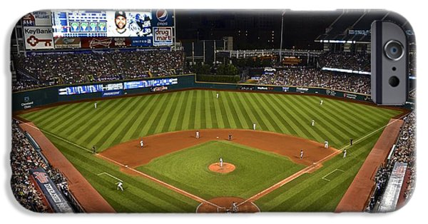 1st Base iPhone Cases - Night Game iPhone Case by Frozen in Time Fine Art Photography