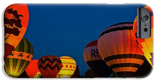 Hot Air Balloon iPhone Cases - Night Glow iPhone Case by Greg Kretschmar