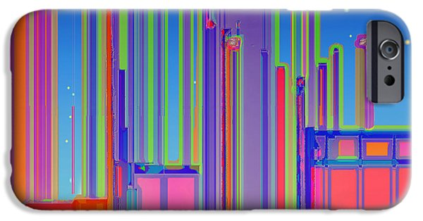 Business Digital Art iPhone Cases - Night in the City iPhone Case by Wendy J St Christopher