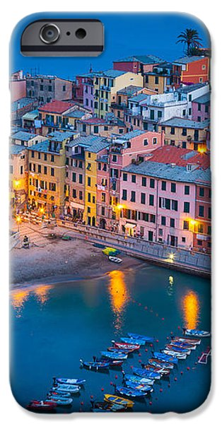 Night in Vernazza iPhone Case by Inge Johnsson