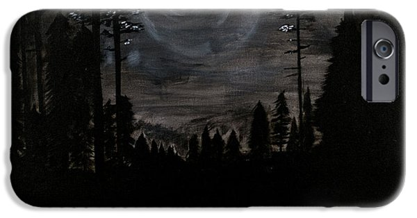 Moonscape iPhone Cases - Night iPhone Case by Katy  Scott
