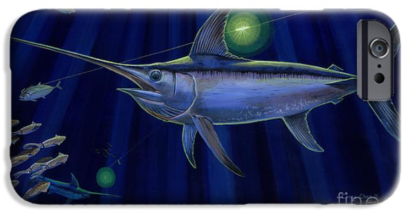 Swordfish iPhone Cases - Night Life Off0026 iPhone Case by Carey Chen