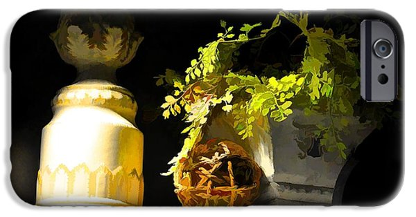 Interior Still Life iPhone Cases - Night Light iPhone Case by Jan Amiss Photography