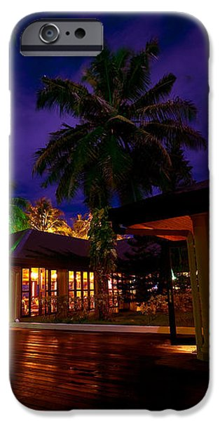 Night Lights at the Resort iPhone Case by Jenny Rainbow
