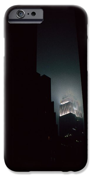 Recently Sold -  - Empire State iPhone Cases - Night Lights Empire State Blizzard iPhone Case by David Hohmann