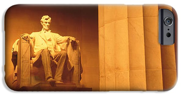 President iPhone Cases - Night, Lincoln Memorial, Washington Dc iPhone Case by Panoramic Images