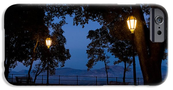 Sicily Paintings iPhone Cases - Night meeting iPhone Case by Marco Busoni