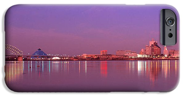 Corporate Photographs iPhone Cases - Night Memphis Tn iPhone Case by Panoramic Images