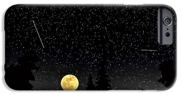 Outer Space iPhone Cases - Night Moves iPhone Case by Steve Harrington