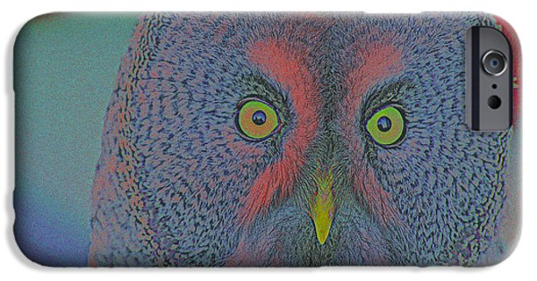 Creative Manipulation iPhone Cases - Night Owl iPhone Case by Adam Asar