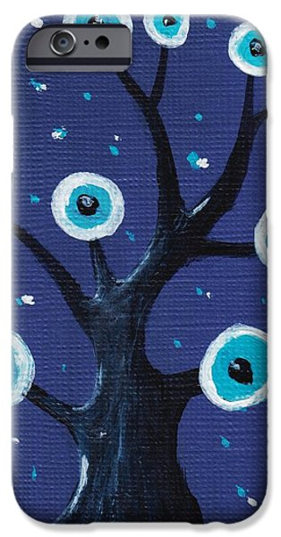 Forest iPhone Cases - Night Sentry iPhone Case by Anastasiya Malakhova