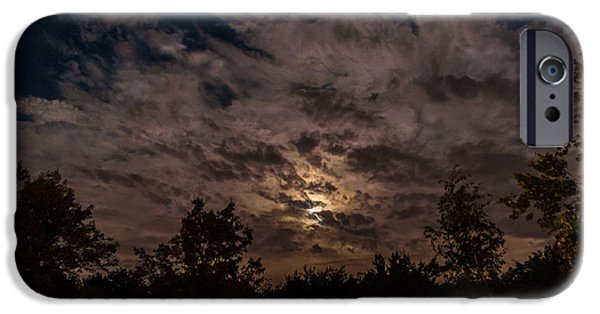 Multimedia iPhone Cases - Night Sky - Autumn 1 iPhone Case by Frank Mari