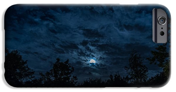 Multimedia iPhone Cases - Night Sky - Autumn 2 iPhone Case by Frank Mari
